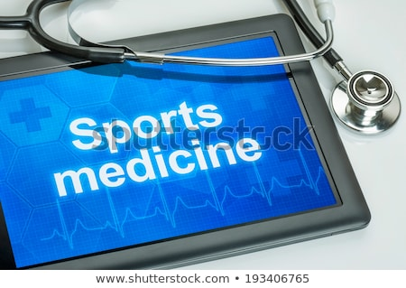tablet with the text sports medicine on the display stock photo © zerbor