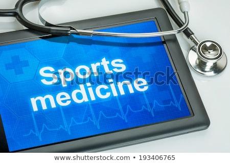 tableta · médicos · especialidad · dermatología · pantalla · ordenador - foto stock © zerbor