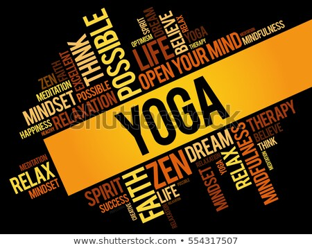 yoga word cloud concept illustration stock photo © m_pavlov