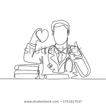 doctor holding heart giving ok sign stock photo © ichiosea