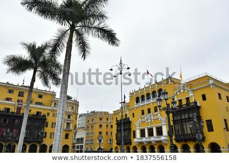 Plaza de Armas, architecture detail, Lima, capital of Peru Stock photo © xura