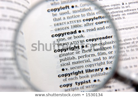 copyright dictionary definition stock photo © chris2766