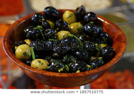 Oliwek ogórki konserwowe Widok rynku kolorowy Zdjęcia stock © juniart