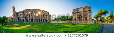 beautiful panorama of rome italy stock photo © tannjuska