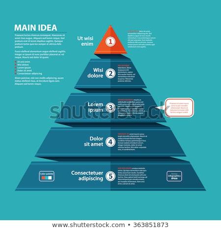 Pyramid chart diagram template Stock photo © orson