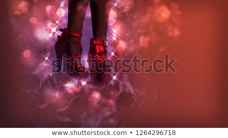 Fetish high heel shoes with red stars   Stock photo © Elisanth