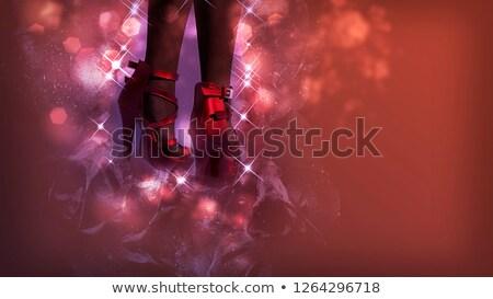 kırmızı · topuk · ayakkabı · bacaklar · cilt - stok fotoğraf © elisanth