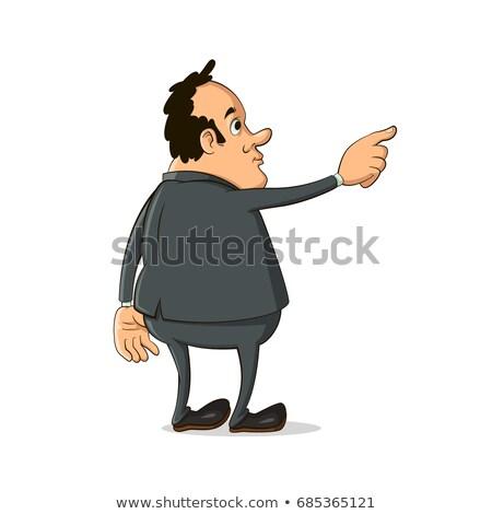 businessman hand pointing away stock photo © szefei