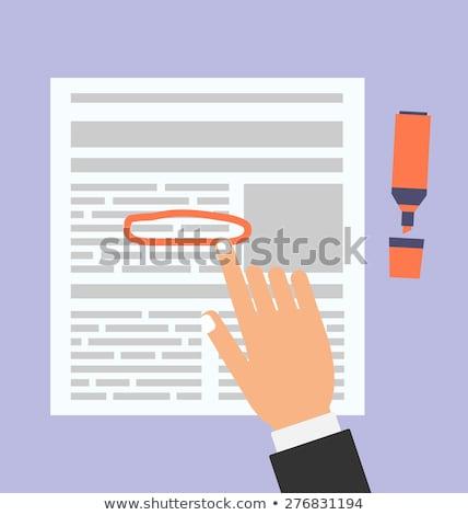 Político noticias naranja diseno botón largo Foto stock © tashatuvango