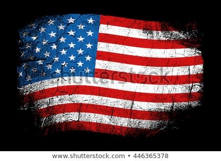 USA · bandiera · stile · vettore · star · onda - foto d'archivio © nezezon