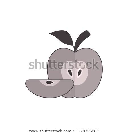 リンゴ アイコン ベクトル 種子 葉 ストックフォト © aliaksandra