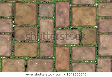 Brown Brick Pavers. Seamless Texture. Stock photo © tashatuvango