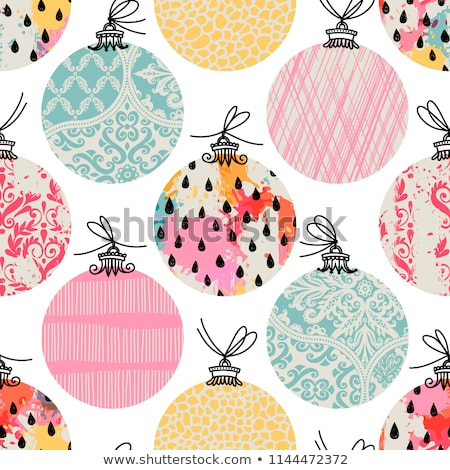 colorful christmas pattern stock photo © vectorikart