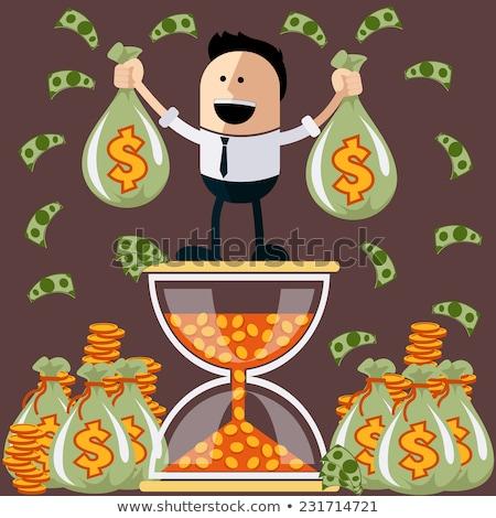 Время-деньги человека сумку деньги вектора Сток-фото © orensila