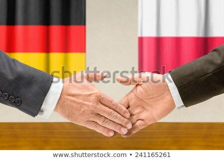 Германия Польша руками бизнеса рук успех Сток-фото © Zerbor