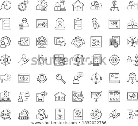 Vector Flat Gears Icons. Symbol about Teamwork, Relation of Business Concept. Stock photo © thanawong
