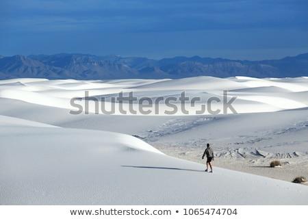 белый Нью-Мексико пустыне небе облака закат Сток-фото © tang90246