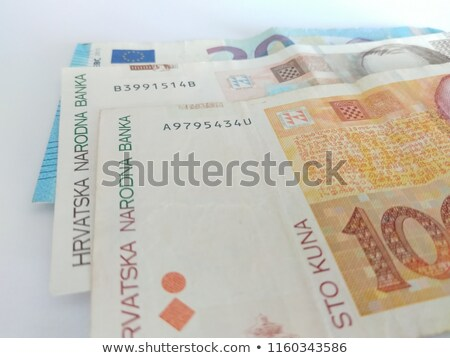 Different Kuna  banknotes from Croatia  on the table Stock photo © CaptureLight