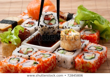 Stock photo: Different japanese food