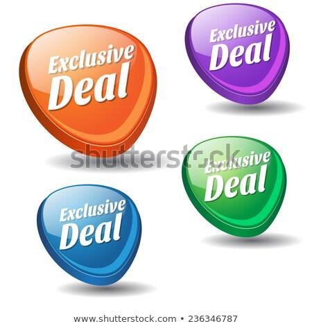 exclusive deal purple vector icon button stock photo © rizwanali3d