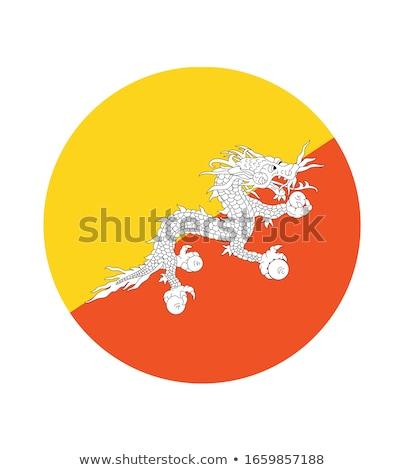 ícone bandeira Butão isolado branco viajar Foto stock © MikhailMishchenko