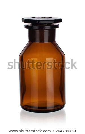 brown empty glass reagent bottles stock photo © erierika