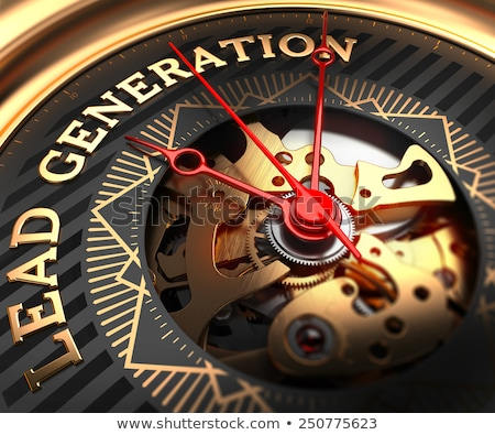 Lead Generation on Black-Golden Watch Face.  Stock photo © tashatuvango