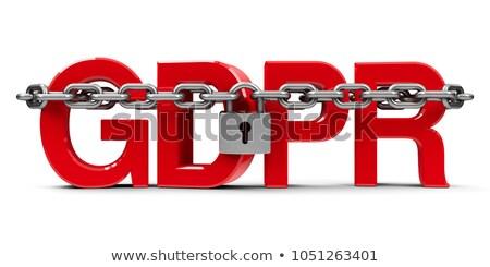 safety wording isolate on white background Stock photo © vinnstock