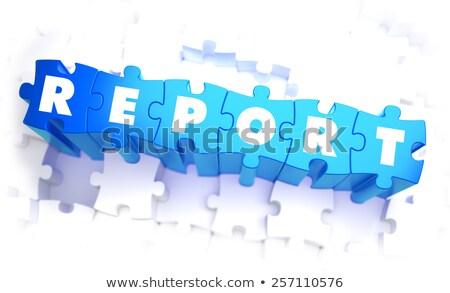 結果 言葉 青 色 ボリューム パズル ストックフォト © tashatuvango
