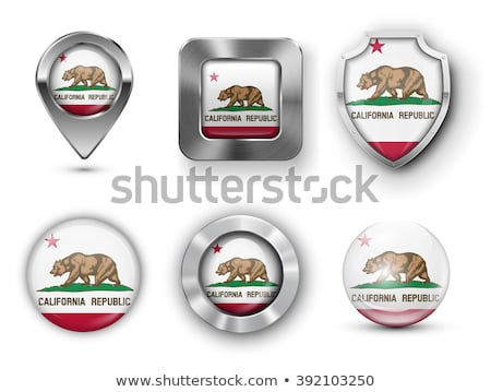 Map on flag button of USA California State Stock photo © Istanbul2009