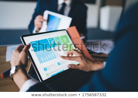 anonymous unrecognizable man with digital tablet computer stock photo © stevanovicigor