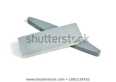 Knife and whetstone isolated on white background Stock photo © jarin13