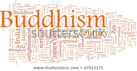 Buddhism word cloud Stock photo © tang90246