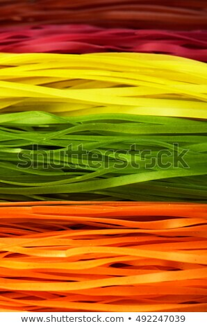 Full frame background of fettuccine pasta Stock photo © ozgur