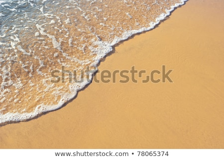 nat · zand · patroon · strand · water · textuur - stockfoto © oleksandro