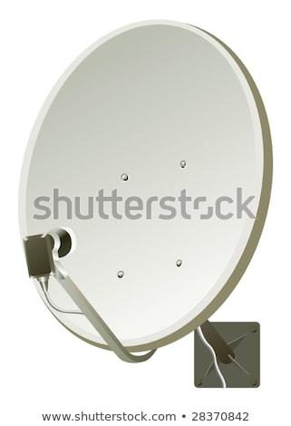 prata · satelite · isolado · branco · tecnologia · telefone - foto stock © ozaiachin