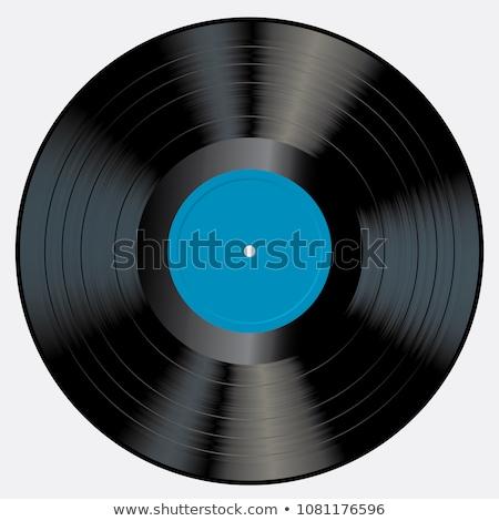 Vinyle disque noir record isolé blanche Photo stock © Johny87