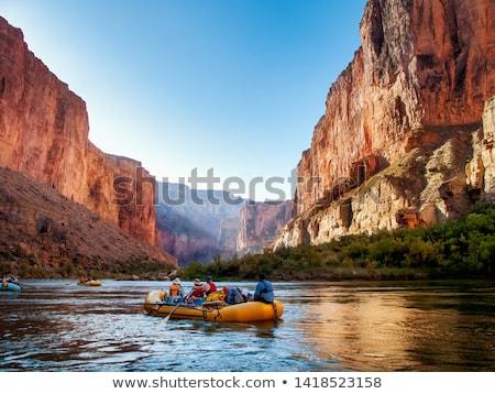 каньон реке мнение небе весны пейзаж Сток-фото © OleksandrO