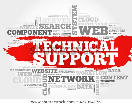 word cloud - technical support Stock photo © master_art