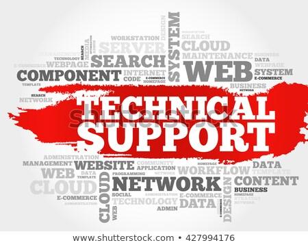 Kelime bulutu teknik destek telefon teslim etiket hizmetleri Stok fotoğraf © master_art