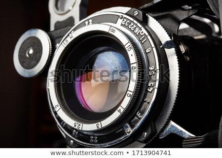 Vintage folding bellows film camera Stock photo © Balefire9