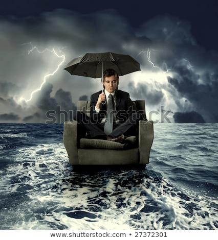 difícil · negócio · homem · trabalhar · empresário · gritar - foto stock © lightsource