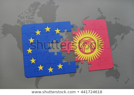 европейский Союза Киргизия флагами головоломки вектора Сток-фото © Istanbul2009
