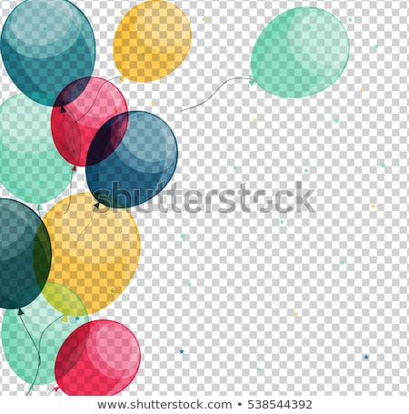 Birthday Balloons Border Stock photo © Irisangel