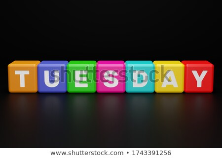 tuesday in 3d cubes Stock photo © marinini