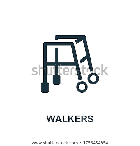 Simple Flat Icon of Walker Stock photo © smeagorl
