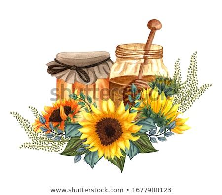 honingbij · zonnebloem · bee · bloem · natuurlijke - stockfoto © sharpner