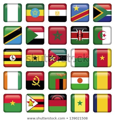 Vierkante icon vlag Malawi geïsoleerd witte Stockfoto © MikhailMishchenko
