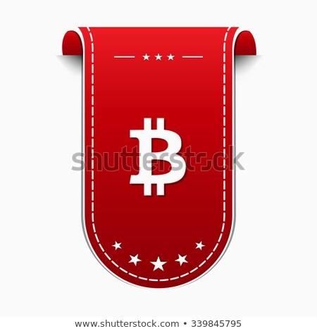 Bit érme ikon terv felirat piros Stock fotó © rizwanali3d