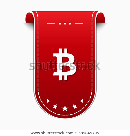 Bit moneda icono diseno signo rojo Foto stock © rizwanali3d